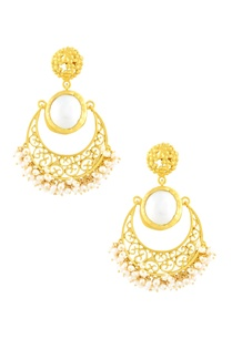 gold-plated-danglers-with-pearl-stud