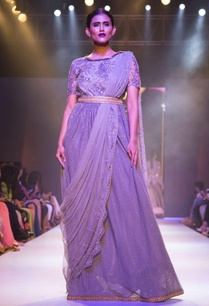 grey-embellished-draped-gown-with-belt