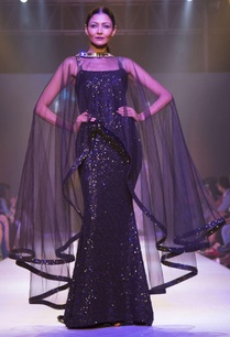 black-sequin-tulle-drape-gown