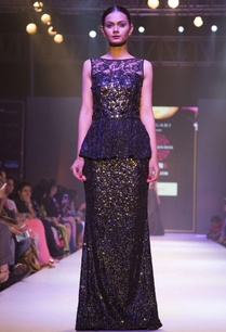 black-peplum-embellished-gown