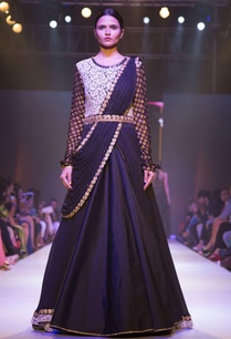 black-sari-drape-embellished-gown