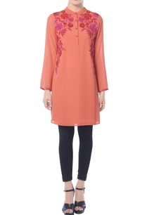 tangerine-floral-embroidered-tunic