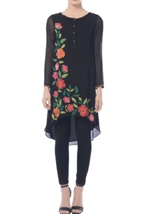 black-high-low-embroidered-tunic