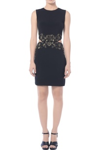 black-embellished-dress-with-cutouts