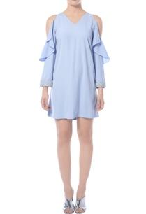pastel-blue-cold-shoulder-dress