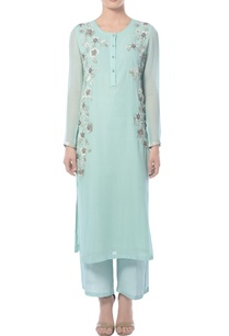 pastel-blue-embellished-kurta-set