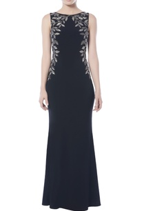 black-jersey-embellished-gown