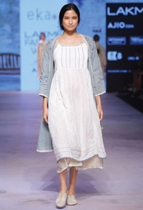white-khadi-pintuck-dress