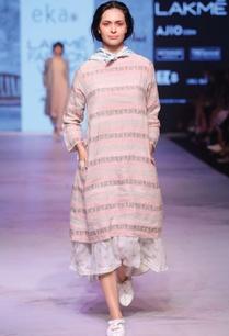 pastel-pink-grey-printed-dress