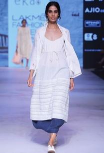 white-khadi-pintuck-dress-with-drawstrings