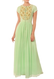 mint-green-long-gown-with-pearl-and-threadwork-yoke