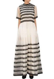 black-white-striped-dress