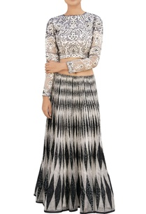 white-black-bandhani-skirt
