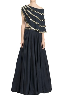 navy-blue-mirror-embellished-cape-with-skirt