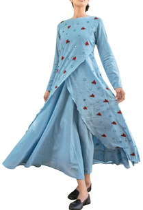 sky-blue-overlap-layered-dress