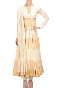 ivory-gold-printed-anarkali-set