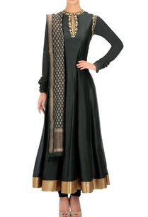 charcoal-and-gold-anarkali-set