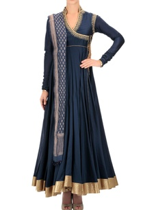 indigo-embroidered-angrakha-anarkali