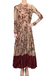 beige-floral-print-long-kurta
