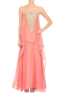 coral-pink-embroidered-tube-dress