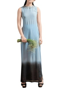 powder-blue-side-slit-maxi-with-dhoti-pants