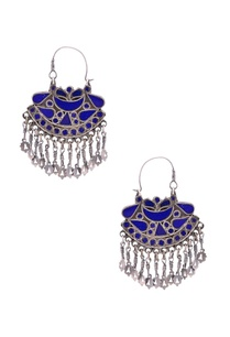 antique-silver-royal-blue-danglers