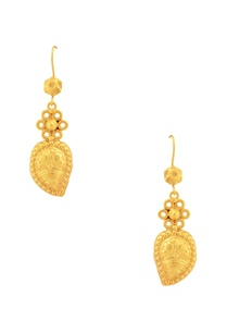 gold-plated-embossed-drop-earrings