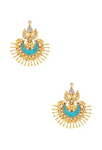 gold-plated-peacock-earrings-with-turquoise-stone
