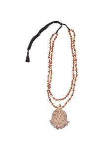 antique-gold-rudraksh-long-necklace-pendant