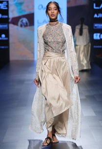 ivory-silk-asymmetric-skirt