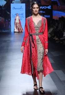red-benarasi-calf-length-jacket-with-waist-belt