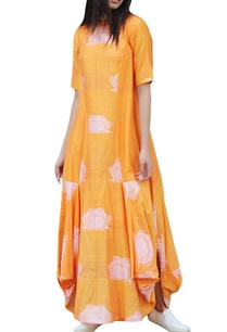 mustard-yellow-asymmetric-maxi-dress