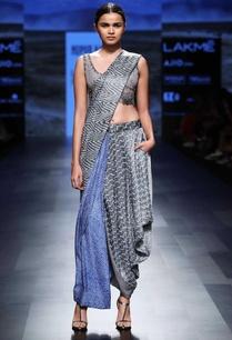 grey-blue-bandhani-sari