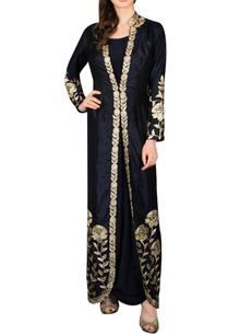 navy-blue-cowl-maxi-dress-with-embroidered-jacket