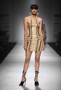 gold-aztec-short-dress