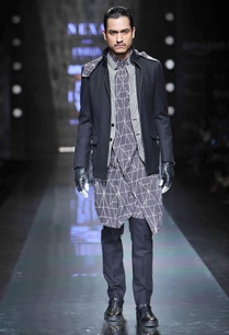 grey-abstract-print-kurta