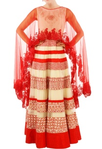 ivory-red-printed-gown-with-drape