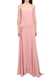 pastel-pink-cold-shoulder-gown