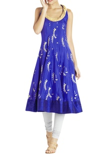 royal-blue-raw-silk-incut-kurta