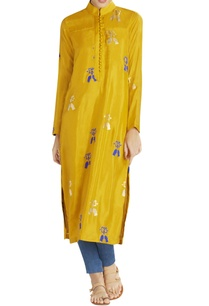 yellow-ochre-long-kurta