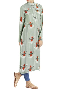 grey-long-kurta-with-puppet-prints
