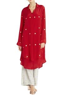 red-dot-summer-double-shirt-kurta-with-slip