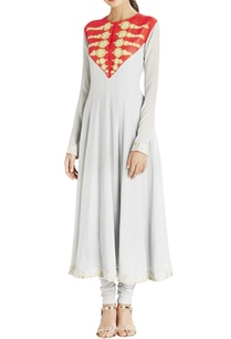 light-grey-anarkali-with-red-embroidered-yoke
