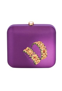 purple-box-clutch-with-gold-floral-print