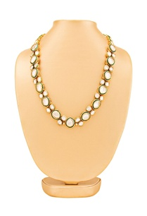 gold-plated-kundan-necklace-with-green-accent