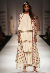 ivory-lily-print-long-jacket-with-top-tiered-skirt