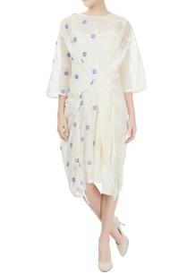 off-white-midi-dress