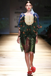 dark-green-butterfly-print-dress