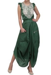 sage-green-embroidered-crop-top-dhoti-skirt