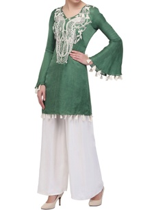 sage-green-tunic-with-bell-sleeves